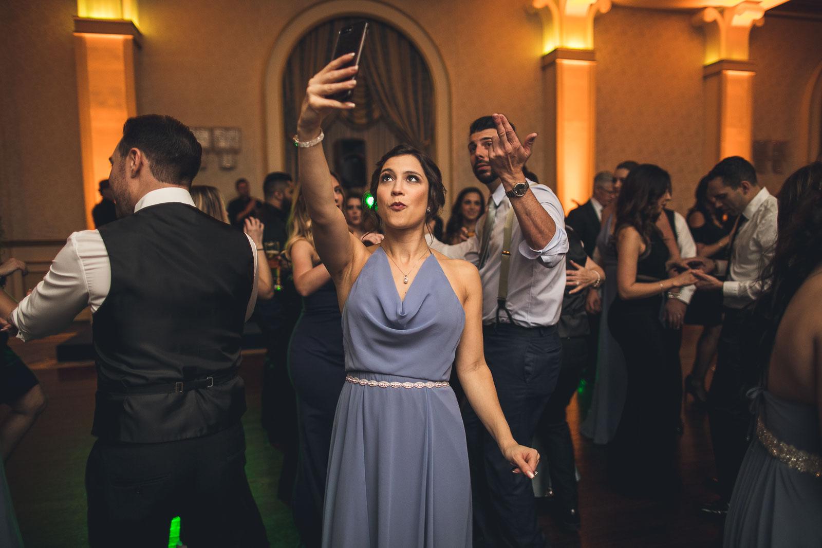 The Grove Wedding Taking a Selfie