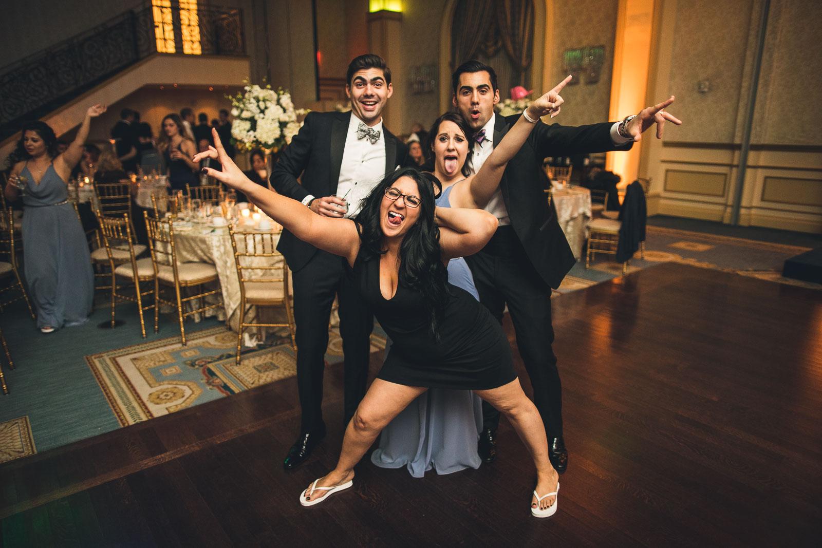 Fun Group Shot Wedding The Grove