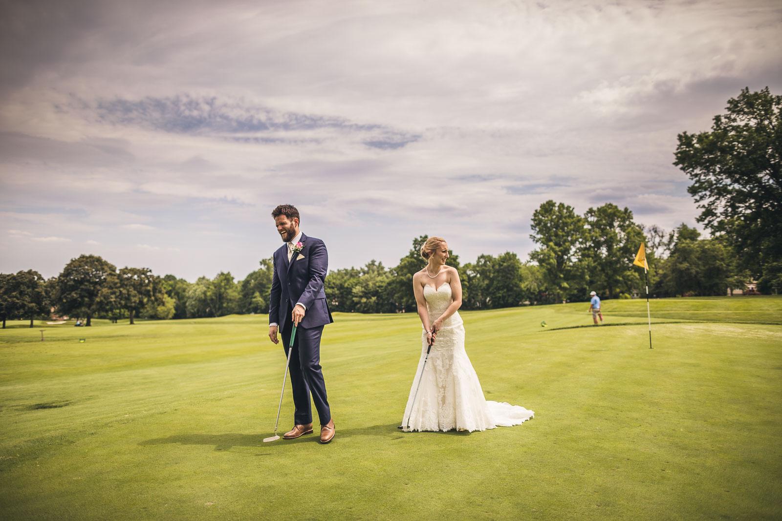 Golf Wedding Photography