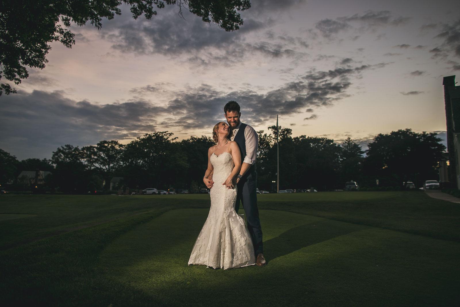 Creative Night Time Wedding Photography