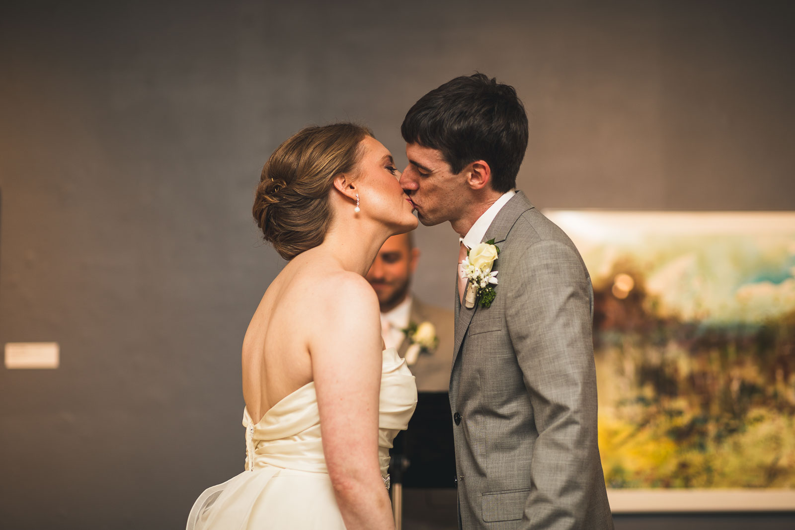 First Kiss Morris Museum Wedding