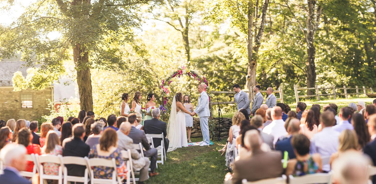 Creative Wedding Ceremony Portrait