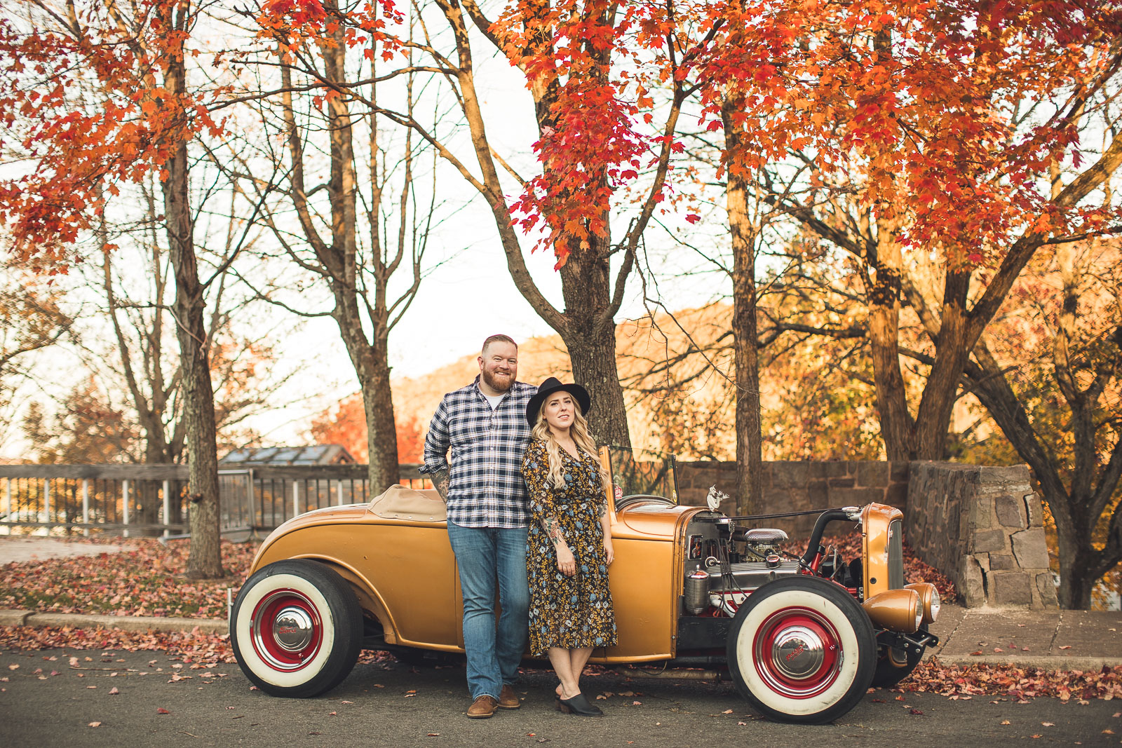 Classic Car Engagement Photography New Jersey