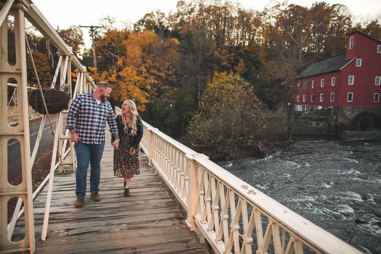 Red Mill Clinton New Jersey Engagement Photography