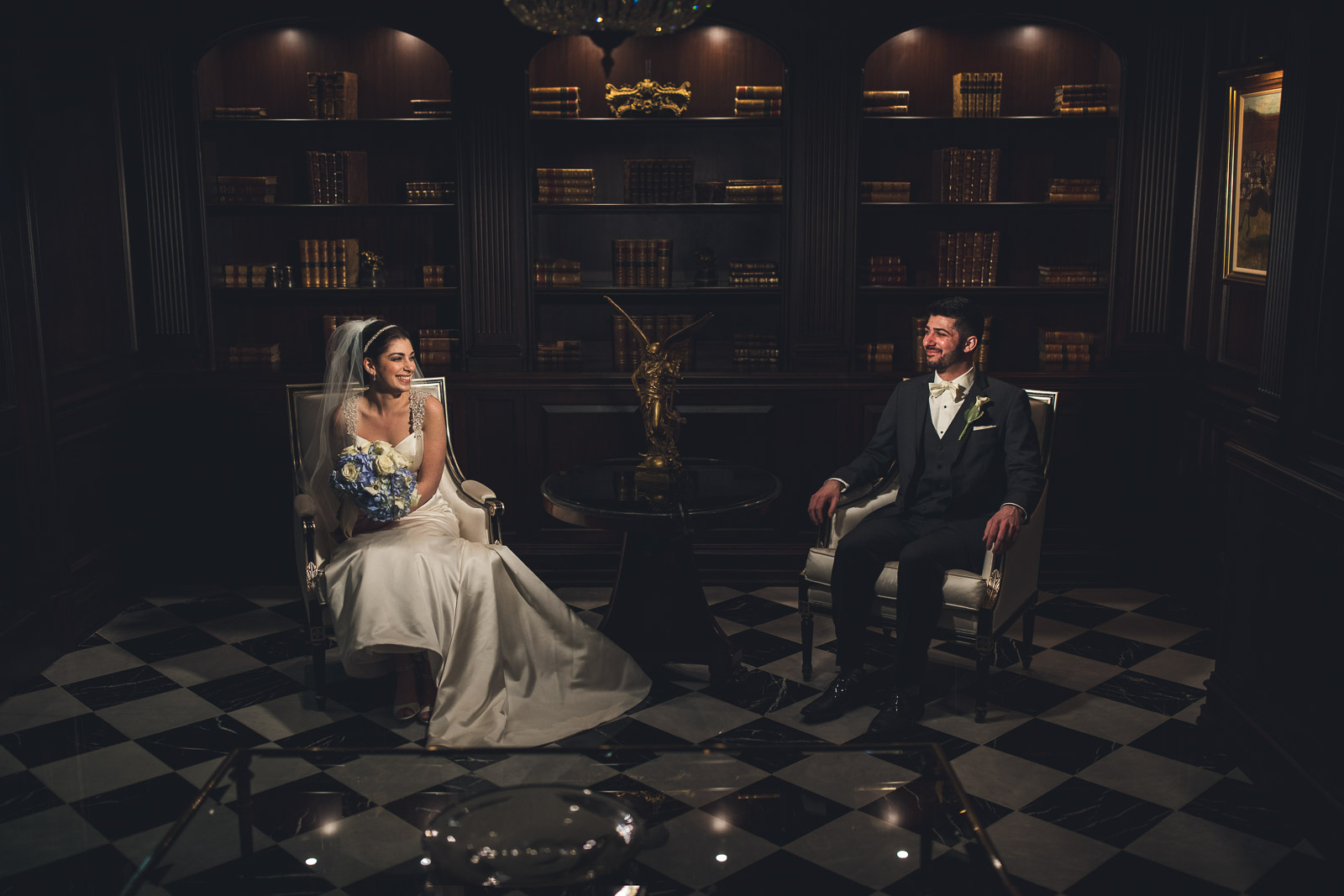 Dramatic Wedding Portraits Park Chateau