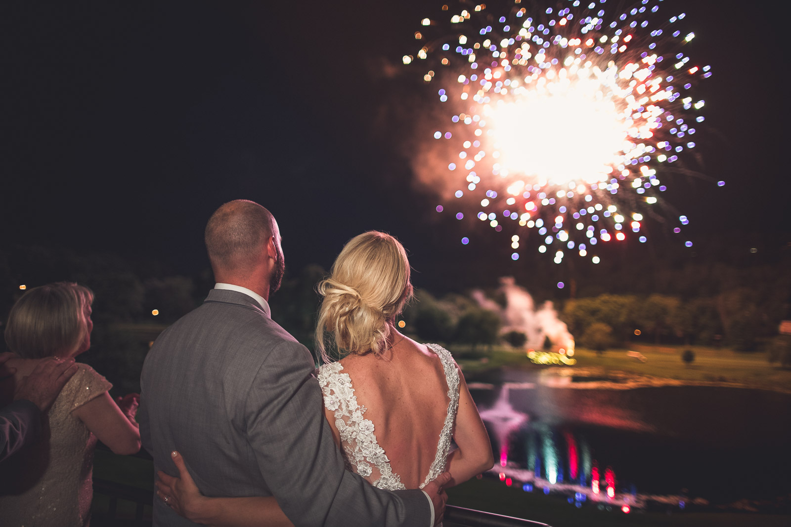 Night Time Wedding Photography New Jersey Fireworks