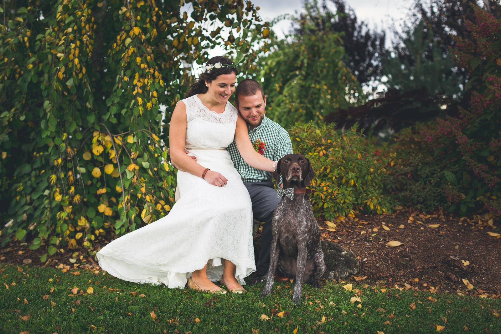 Wedding Photography with Dog Sussex County Conservatory