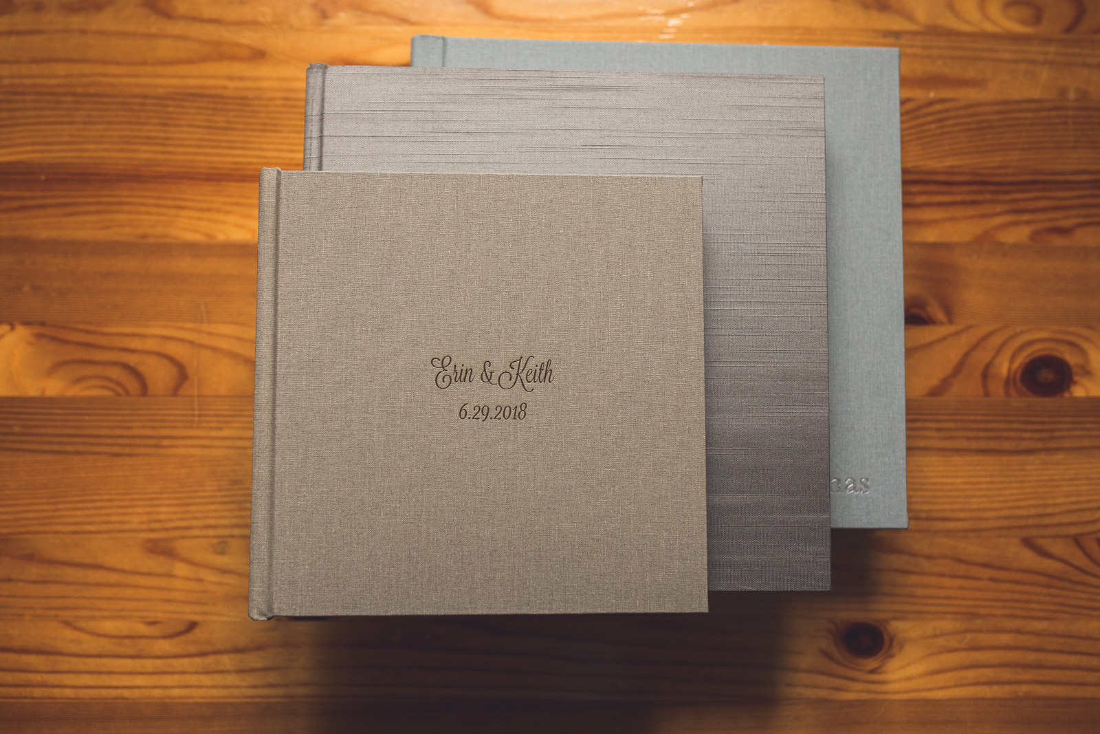 Wedding Albums Stacked