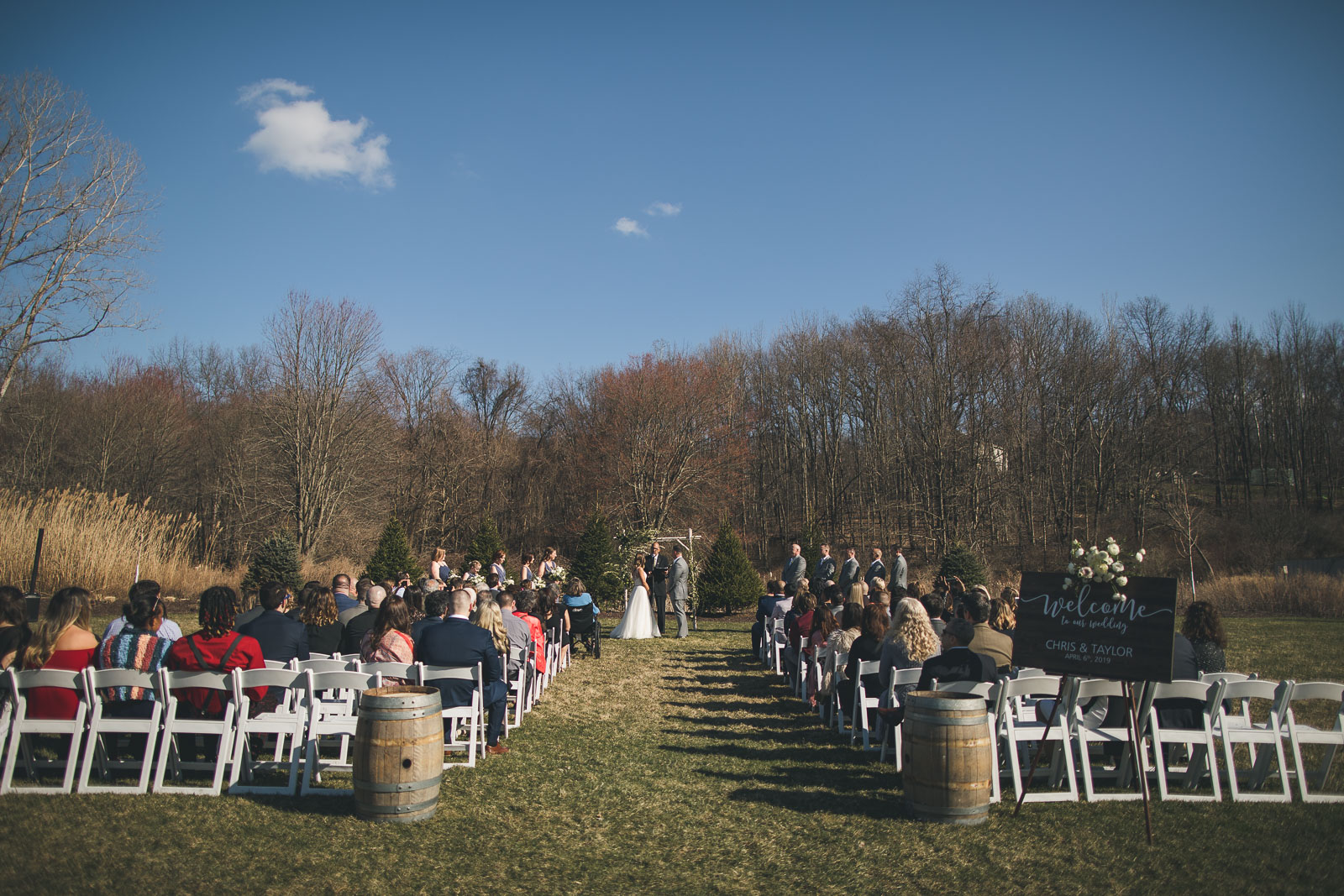 Wedding Ceremony Perona Farms
