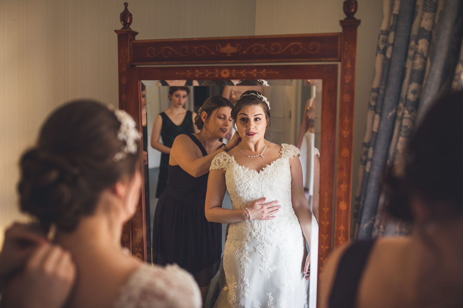 Bride getting final details