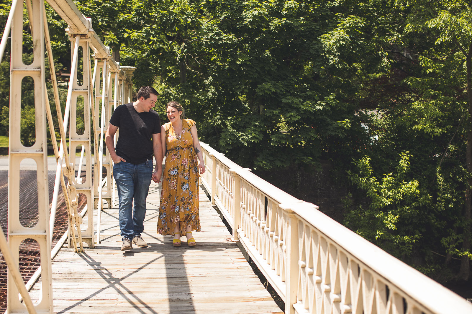 Clinton Bridge Engagement Photos
