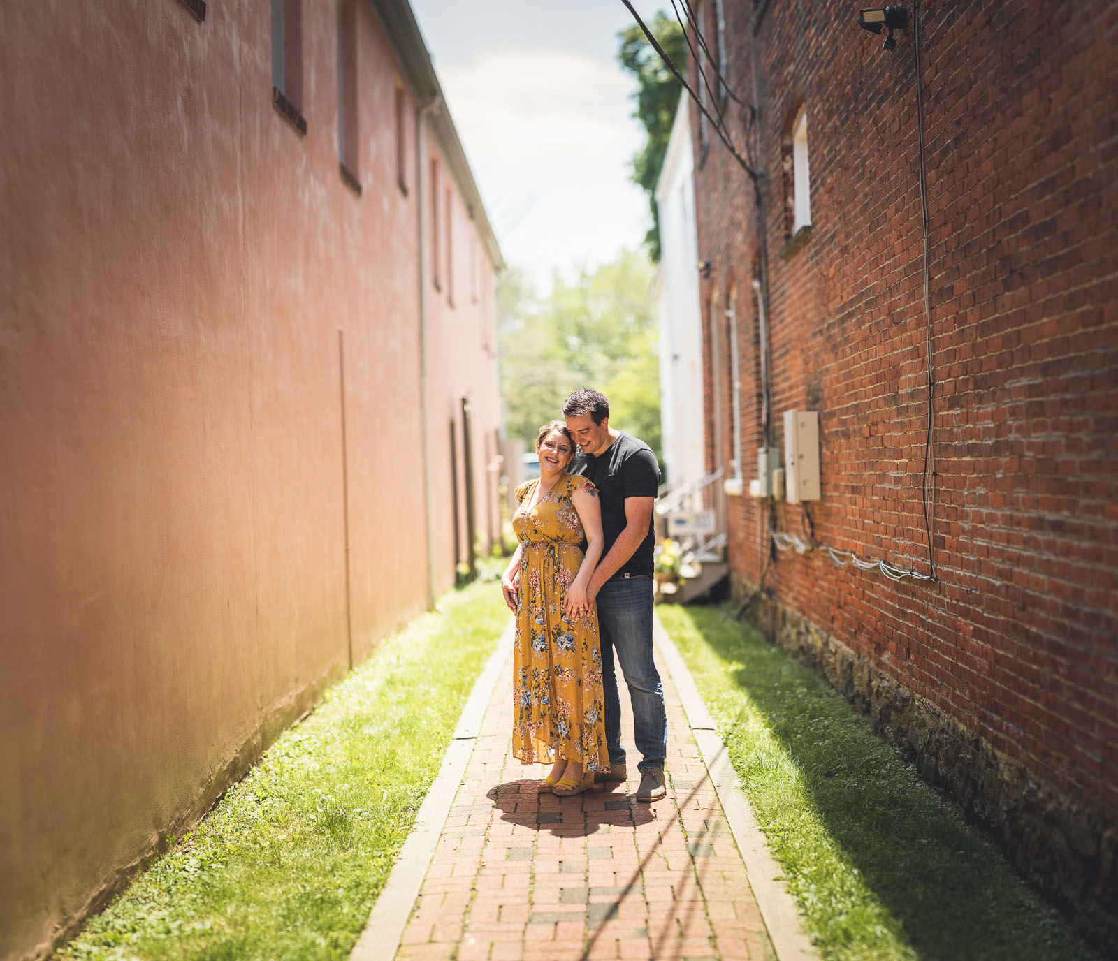 Creative Brick Engagement Photos