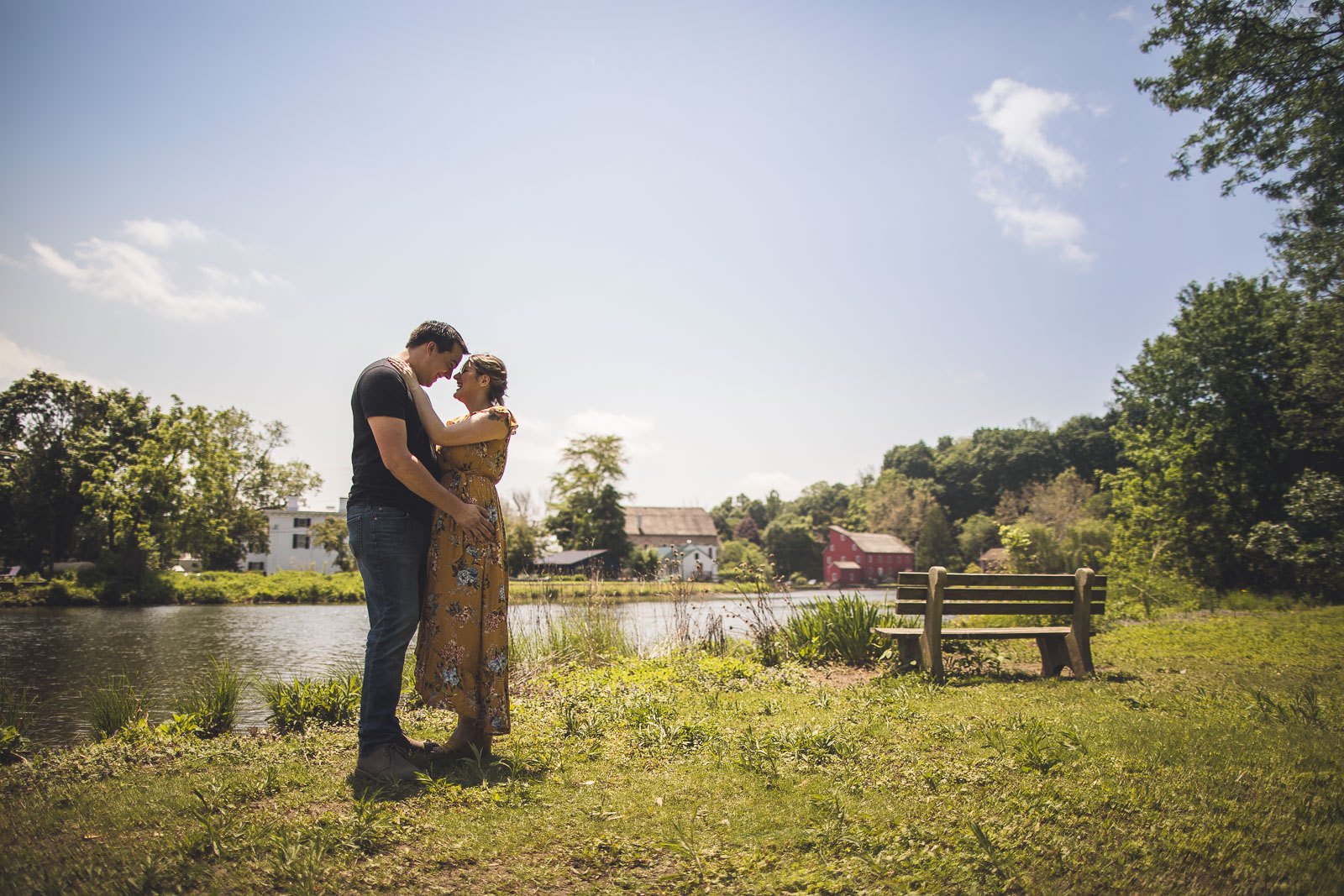 Red Mill Engagement Photo