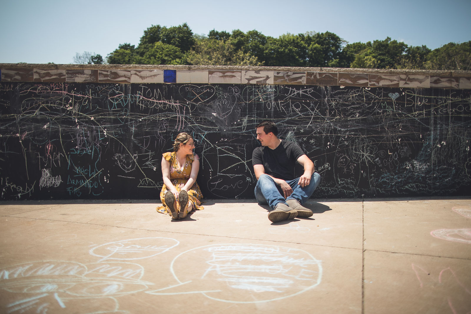 Chalk Board Wall Engagement Photo