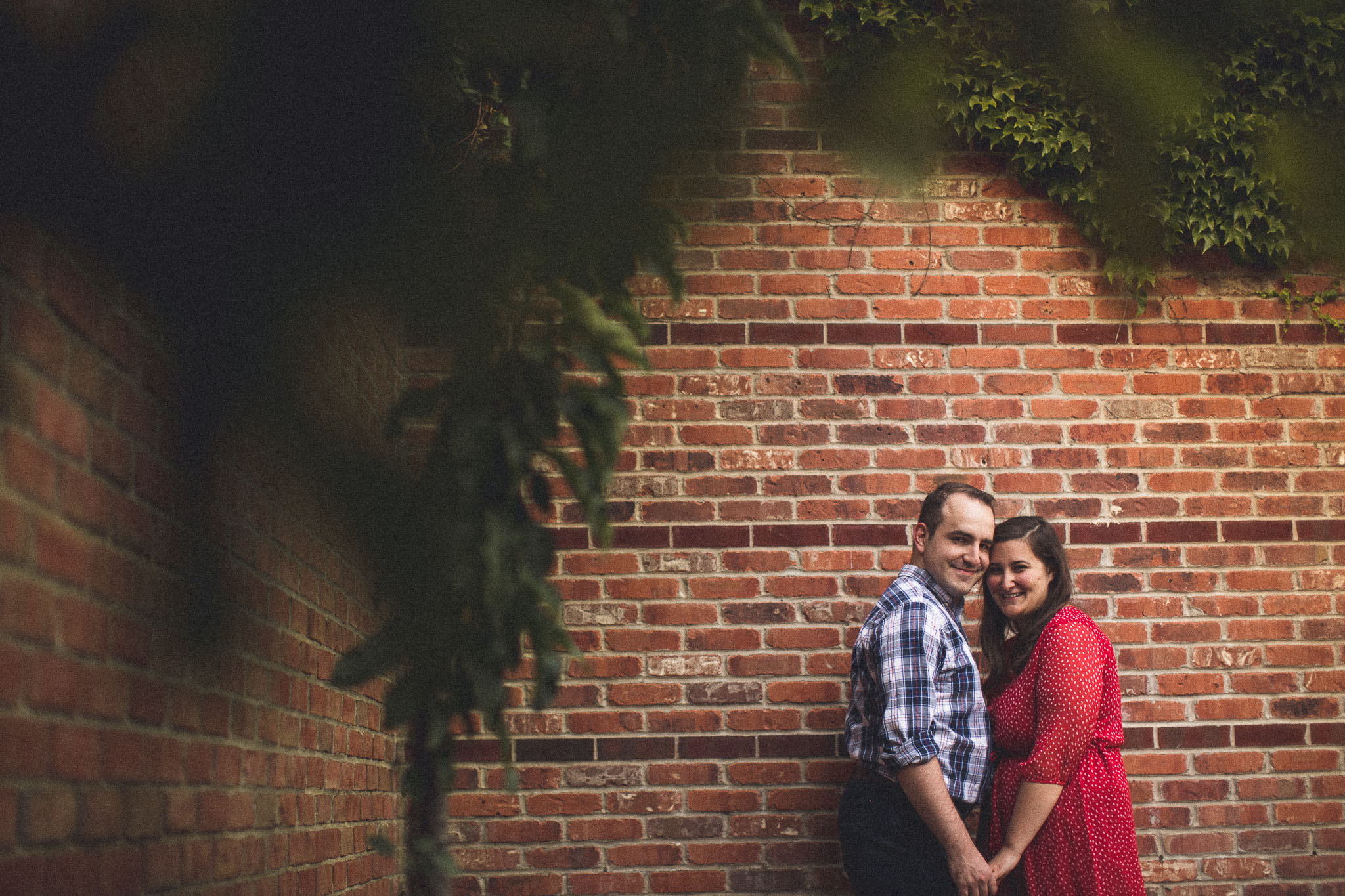 Brick Engagement Photo