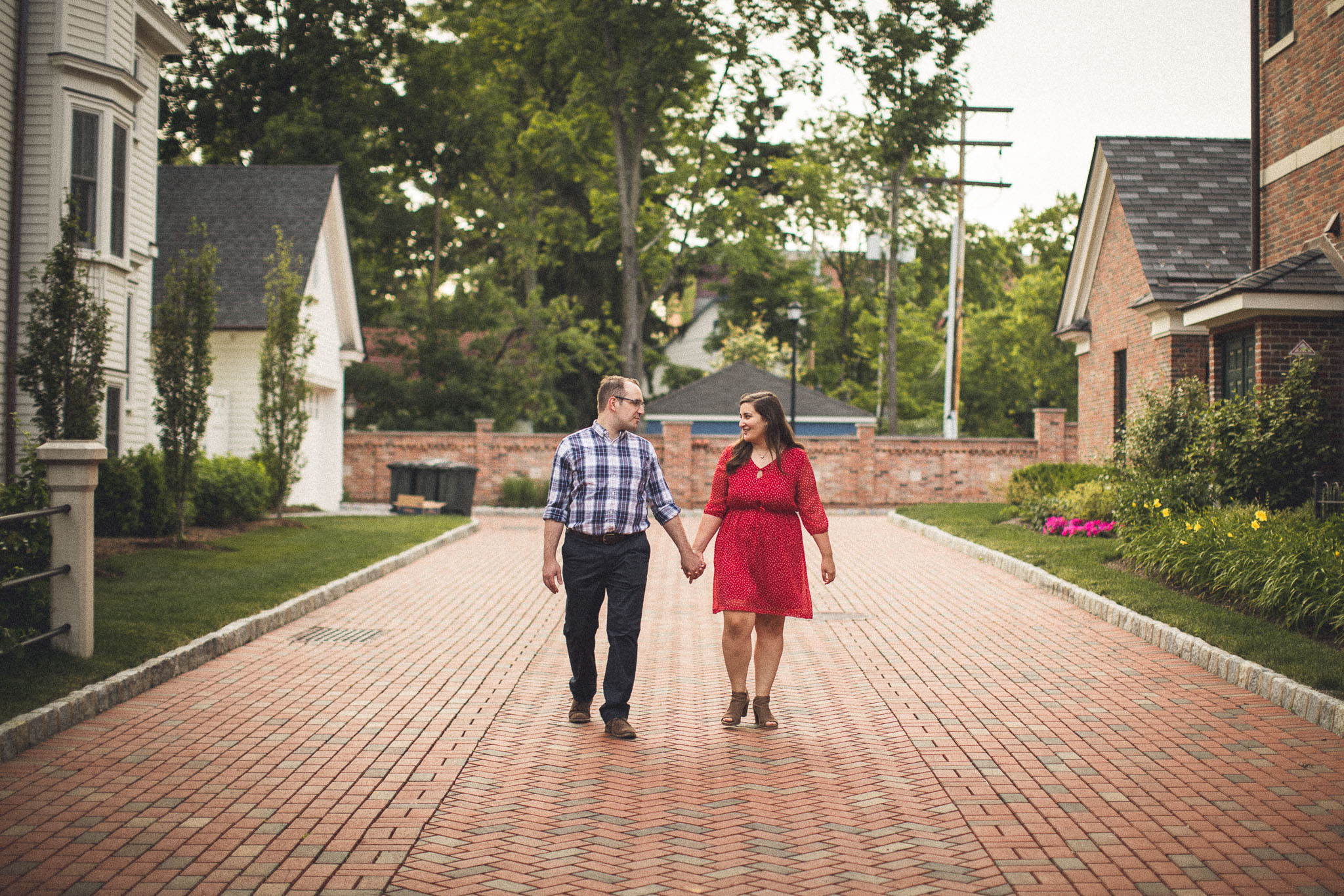 Brick Road Engagement Photography