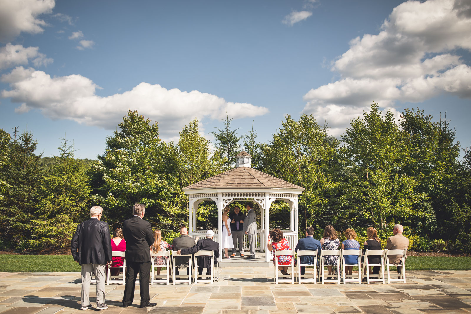 Outdoor Ceremony Chandelier at Flanders Valley New Jersey