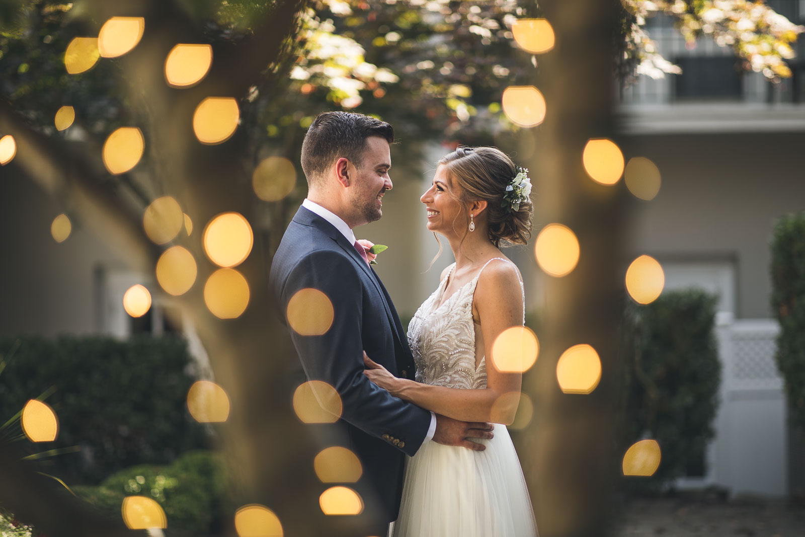 Bokeh Wedding Portrait