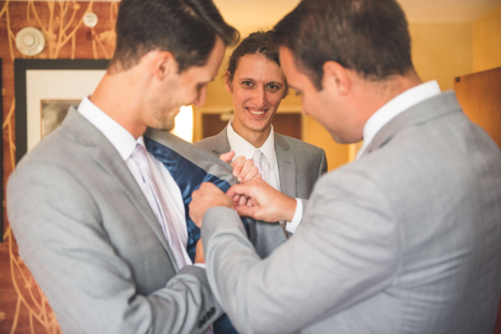 Groom adds Star Wars bling to Suit