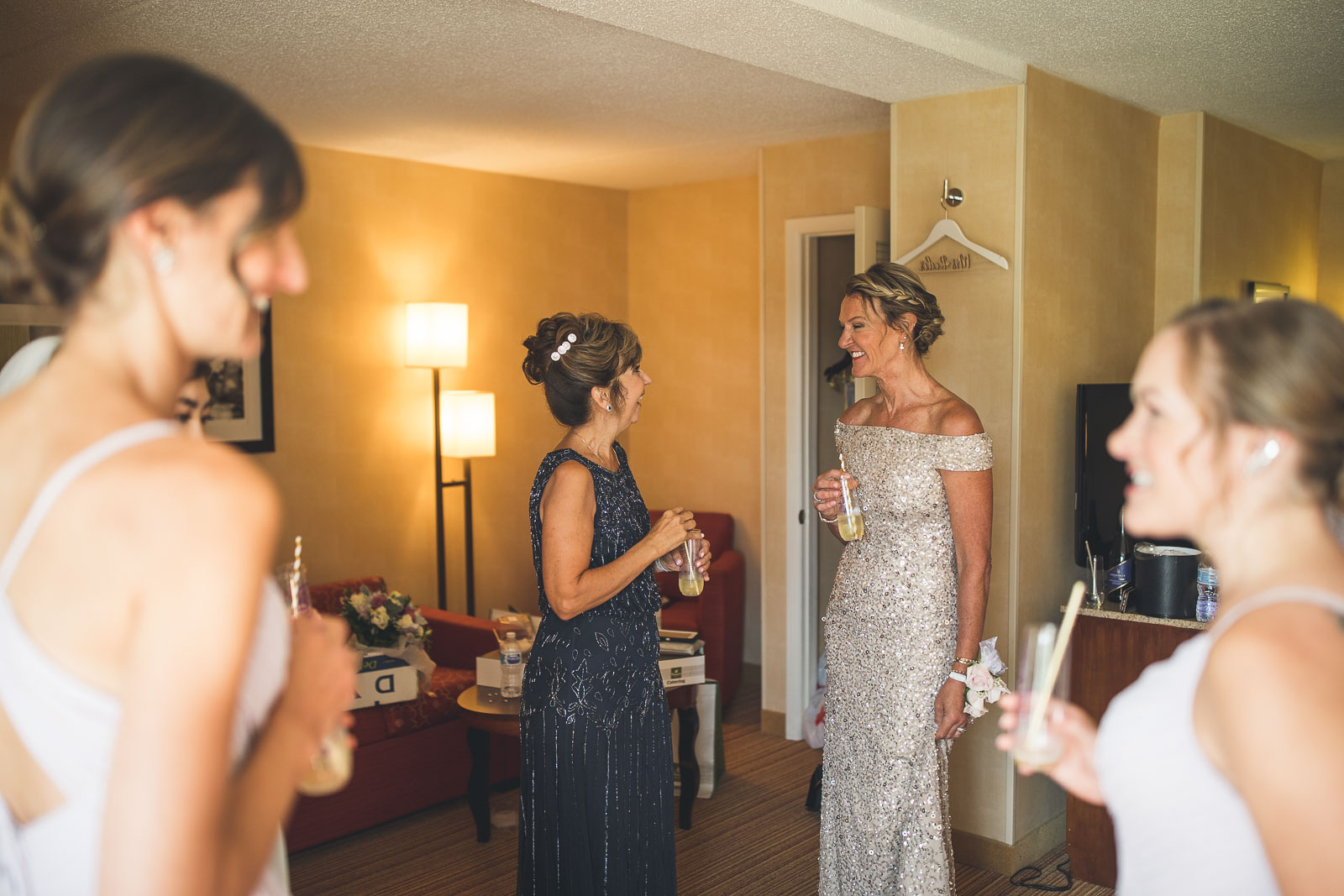 Moms have a happy moment before wedding