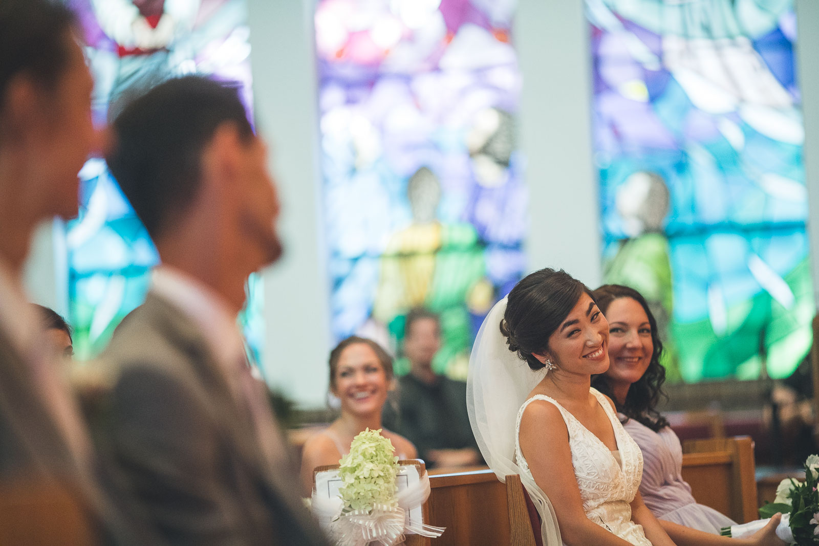 Bride gives groom a look