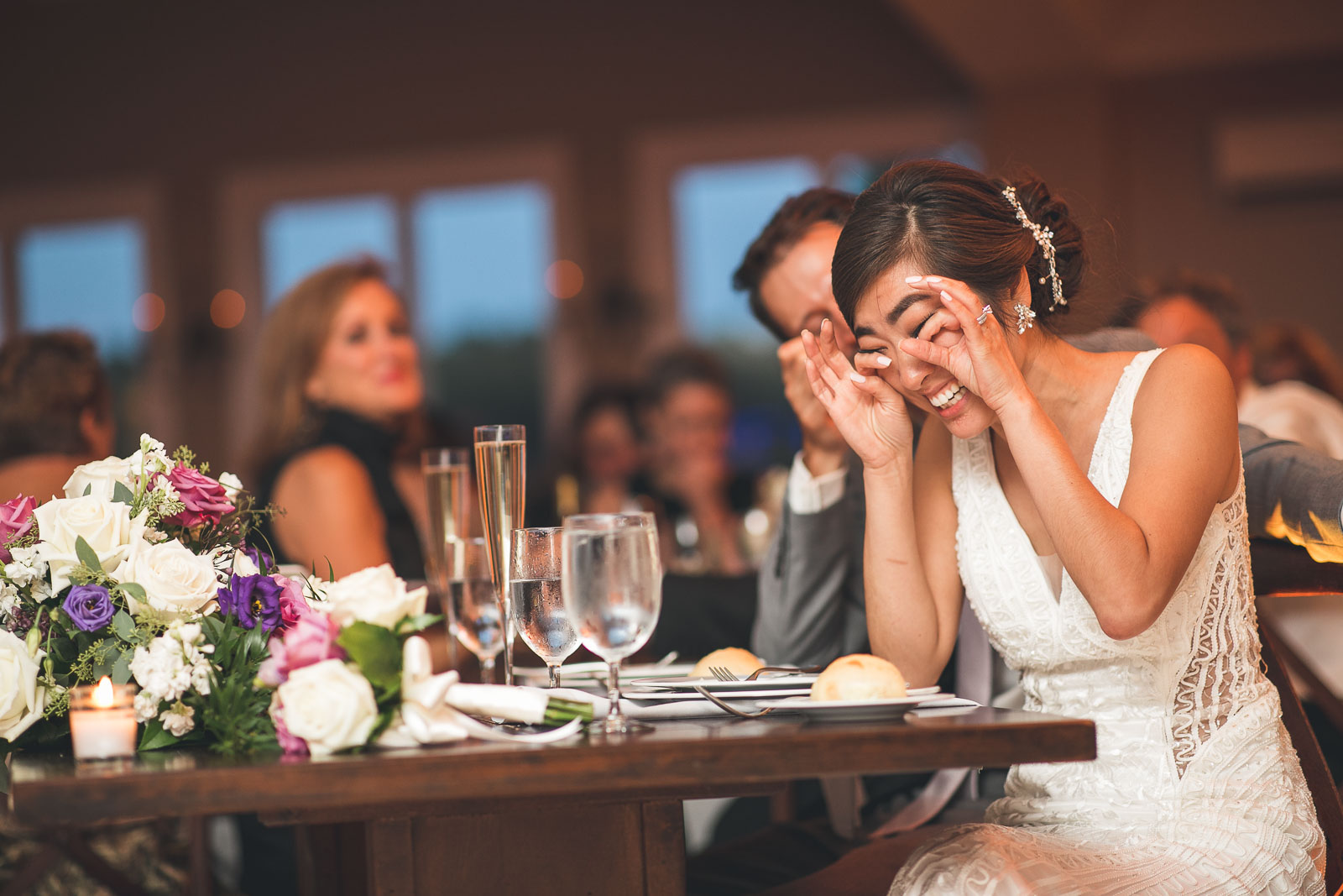 Bride tears of Joy
