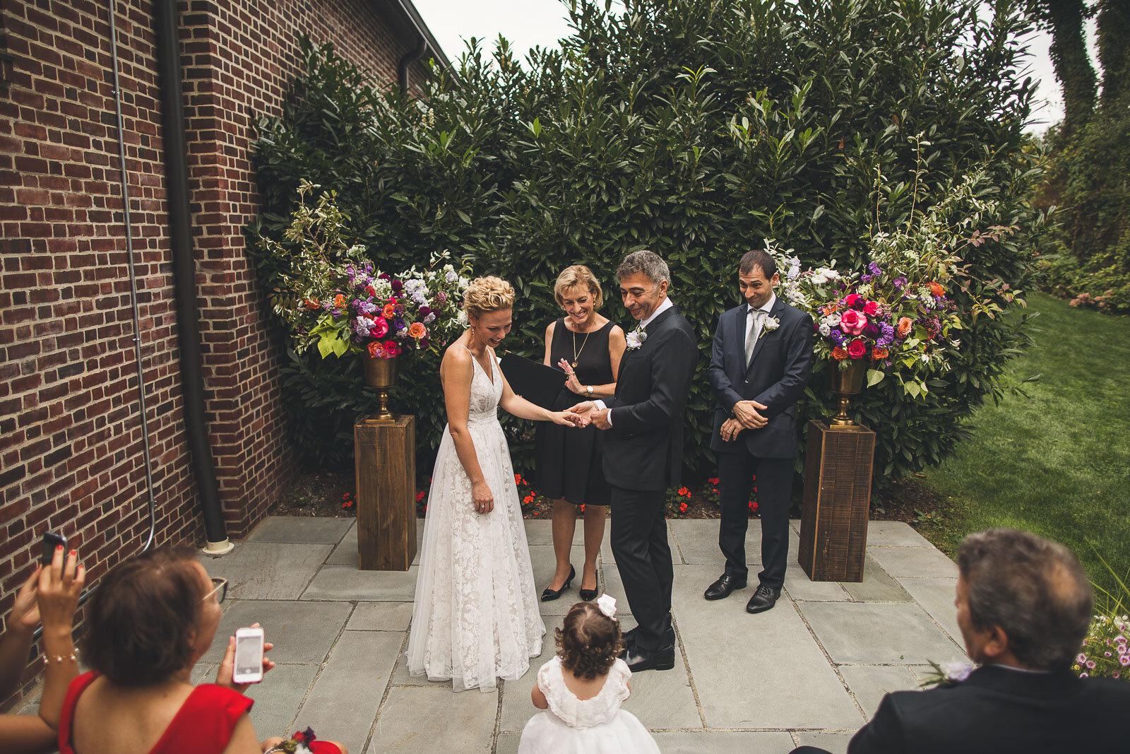 Flower Girl joins Wedding Ceremony
