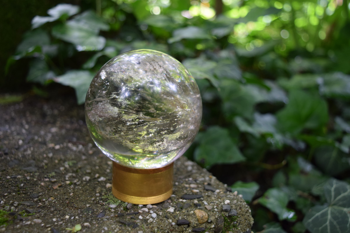 Crystal Ball in the woods, photo, Amanda Linette Meder 404 Message