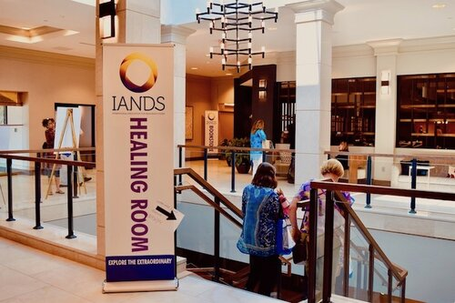 IANDS Healing Room Lobby Signage At King of Prussia Conference 2019. Photo Amanda Linette Meder
