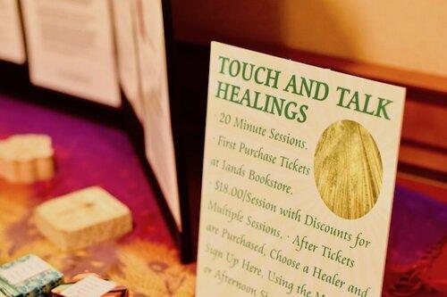 Healing Room Table Sign, King of Prussia 2019 IANDS Conference. Photo Amanda Linette Meder Nikon Lens 50mm.
