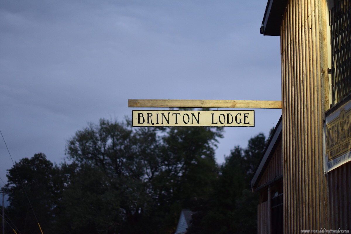 Looking for a ghost tour in Berks County, PA, Check out The Brinton Lodge. Photo: Amanda Linette Meder Brinton Lodge, Brinton Lodge Signpost on Building