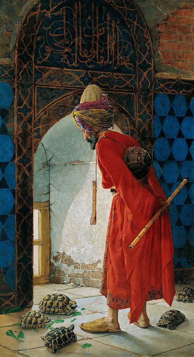The Tortoise Trainer (1st version), by the legendary Ottoman painter Osman Hamdi Bey
