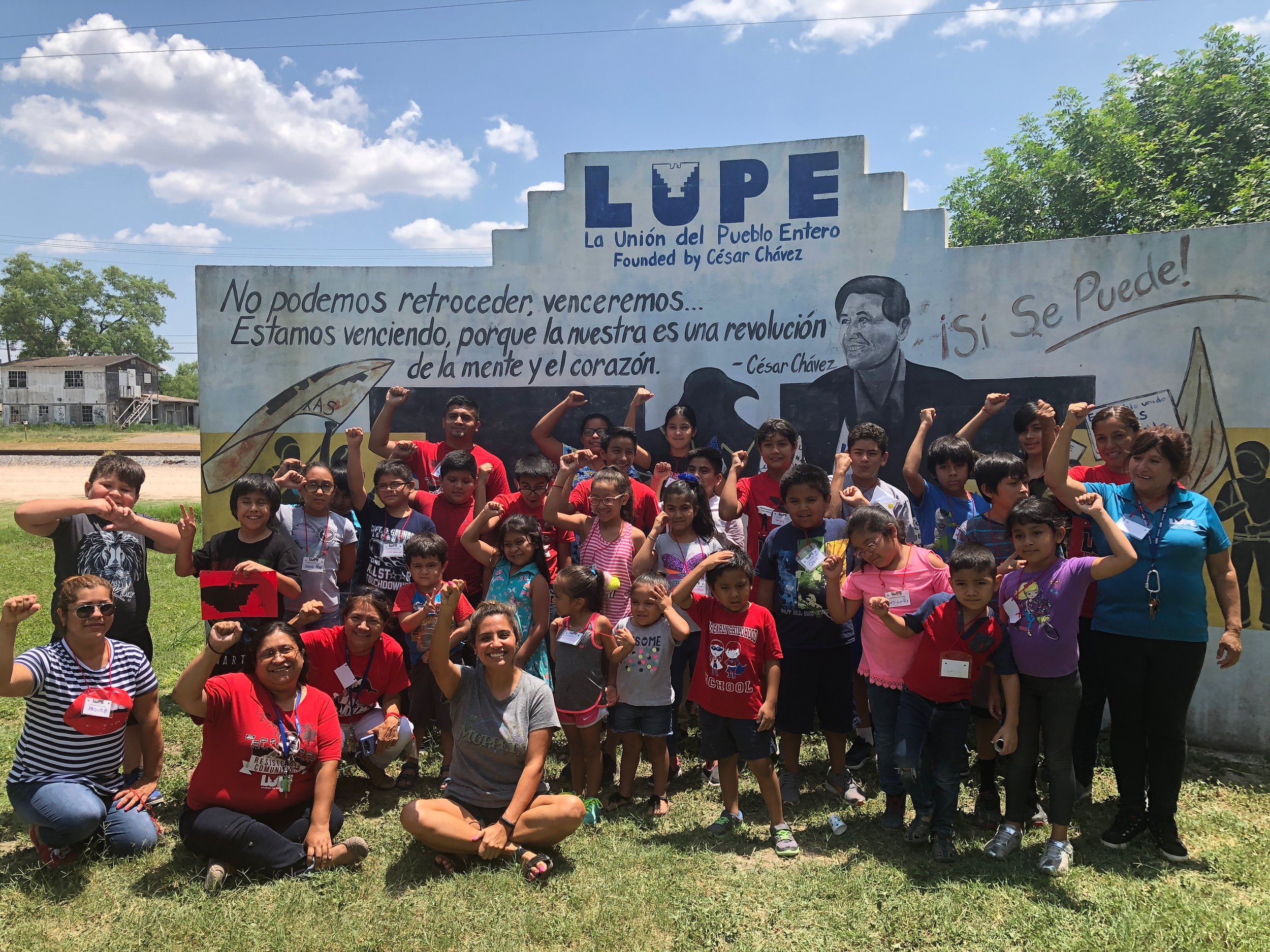 2018 Summer Camp during LUPE's annual school supply drive for families that live in coloñias. Coloñias are unincorporated settlements in the U.S. usually near the Mexican border that typically has poor services and squalid conditions.