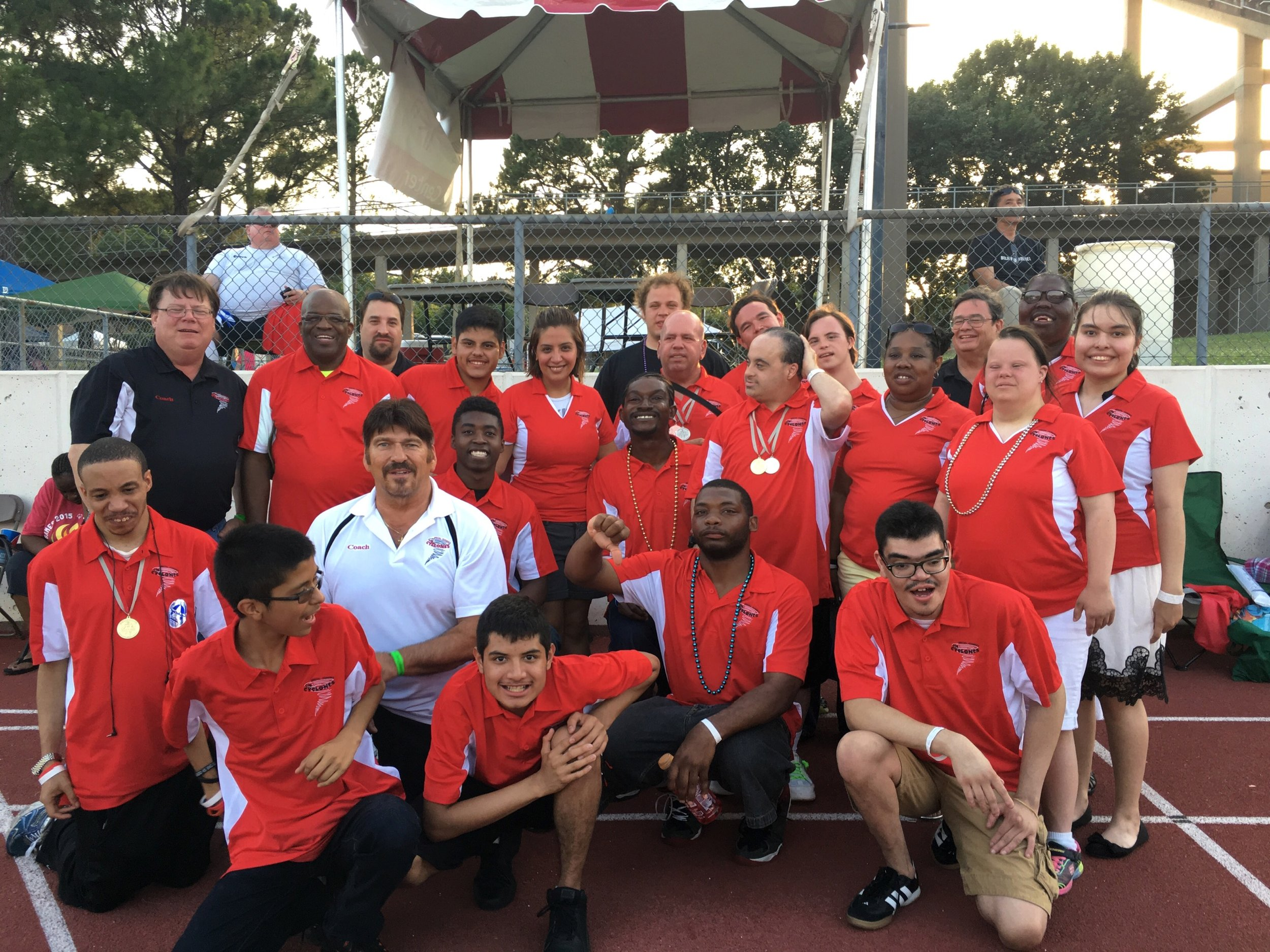 Special Olympics Texas Summer Games back in 2015. I bought the team new jerseys because fundraising is the most important part of keeping this team going.