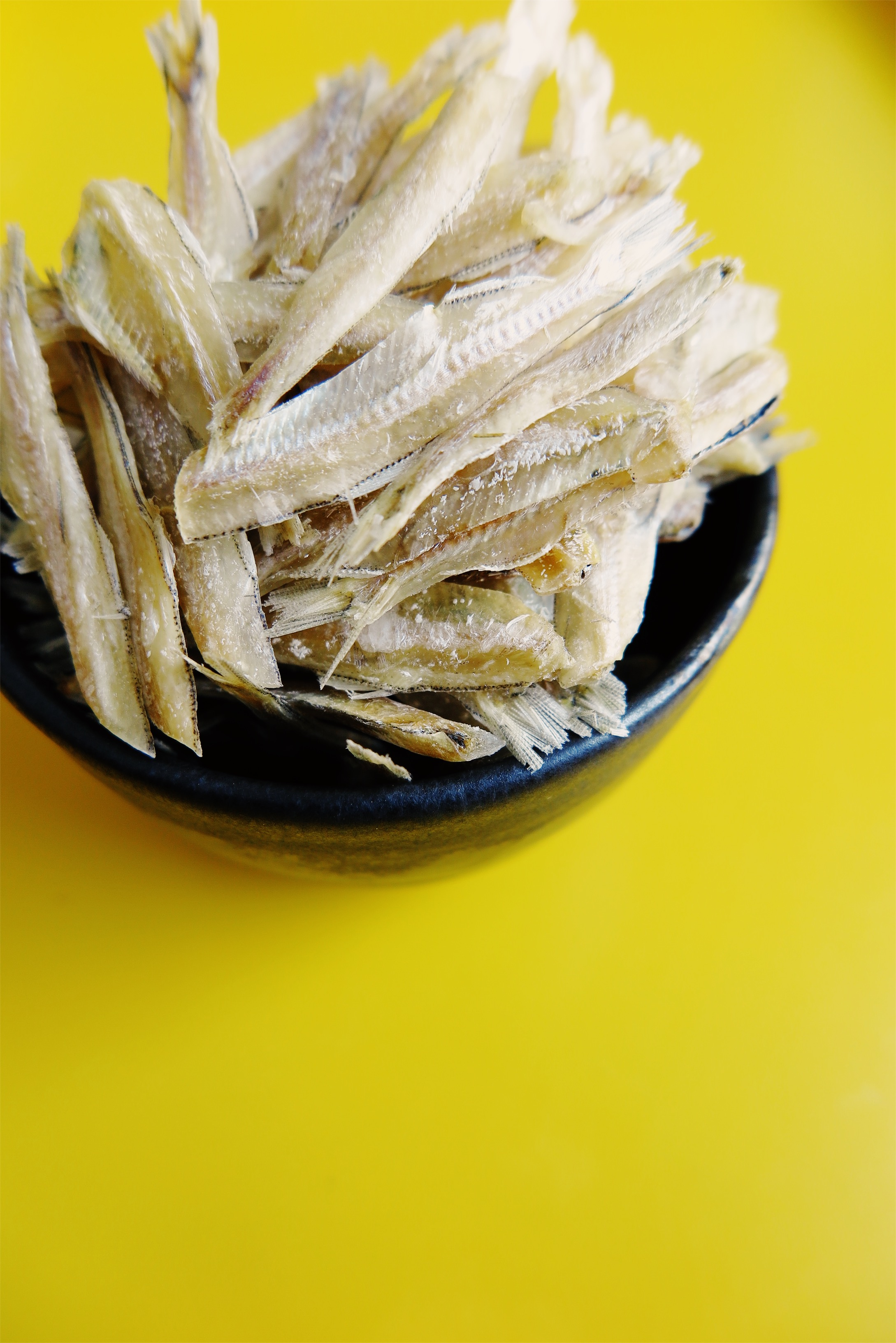 uncooked dried fishes