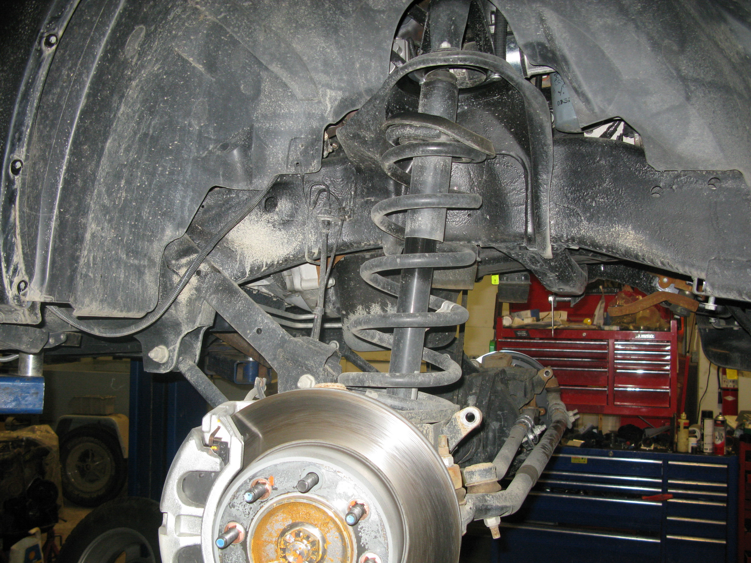 Stock front suspension