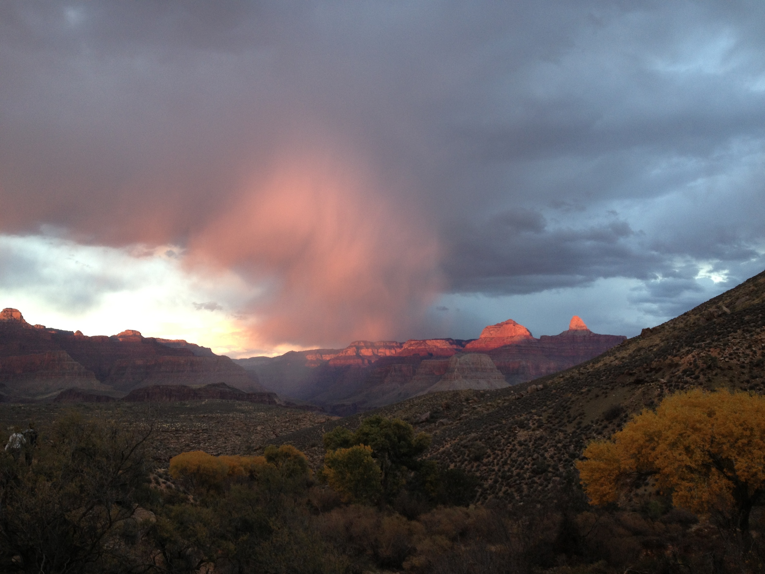 Sunset at Grand Canyon near Indian Garden