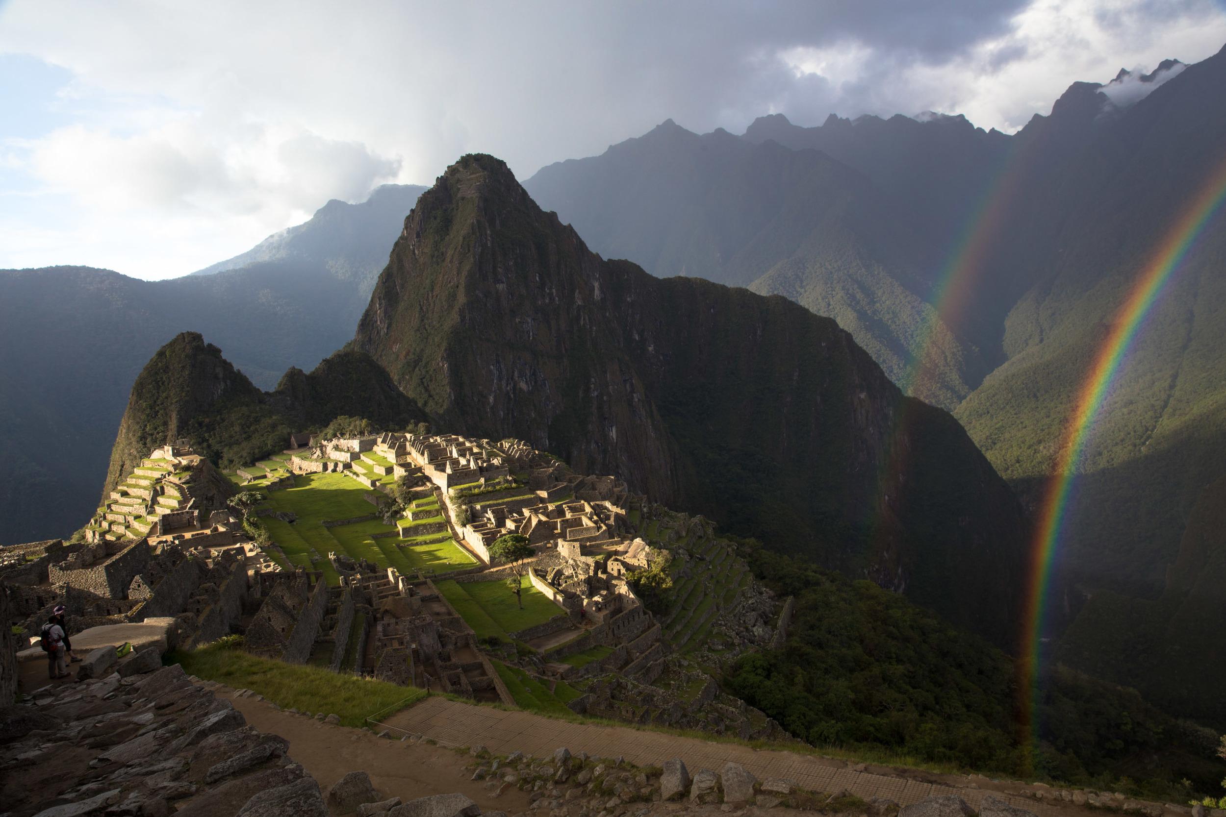 Machu Picchu and a rainbow