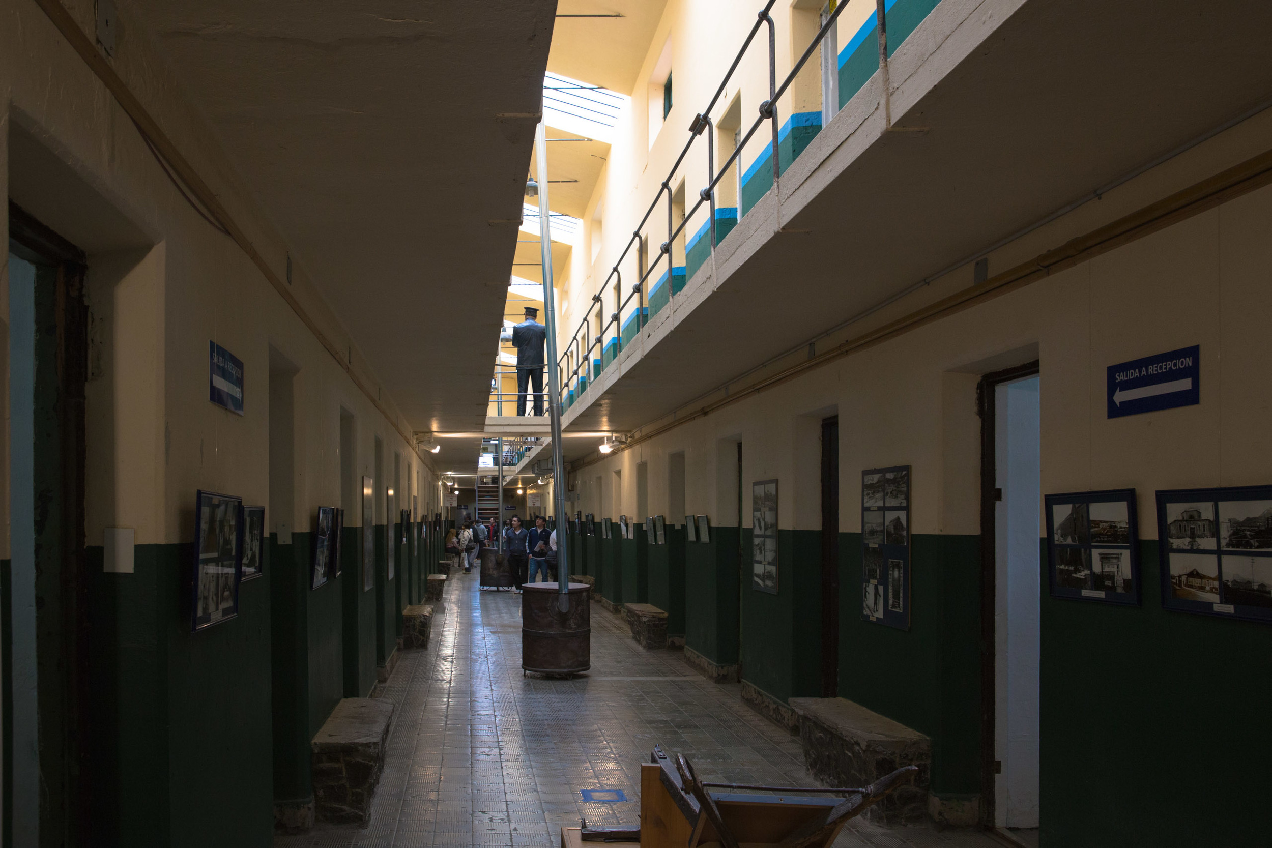 Inside the old prison, now a large, multi-wing museum.