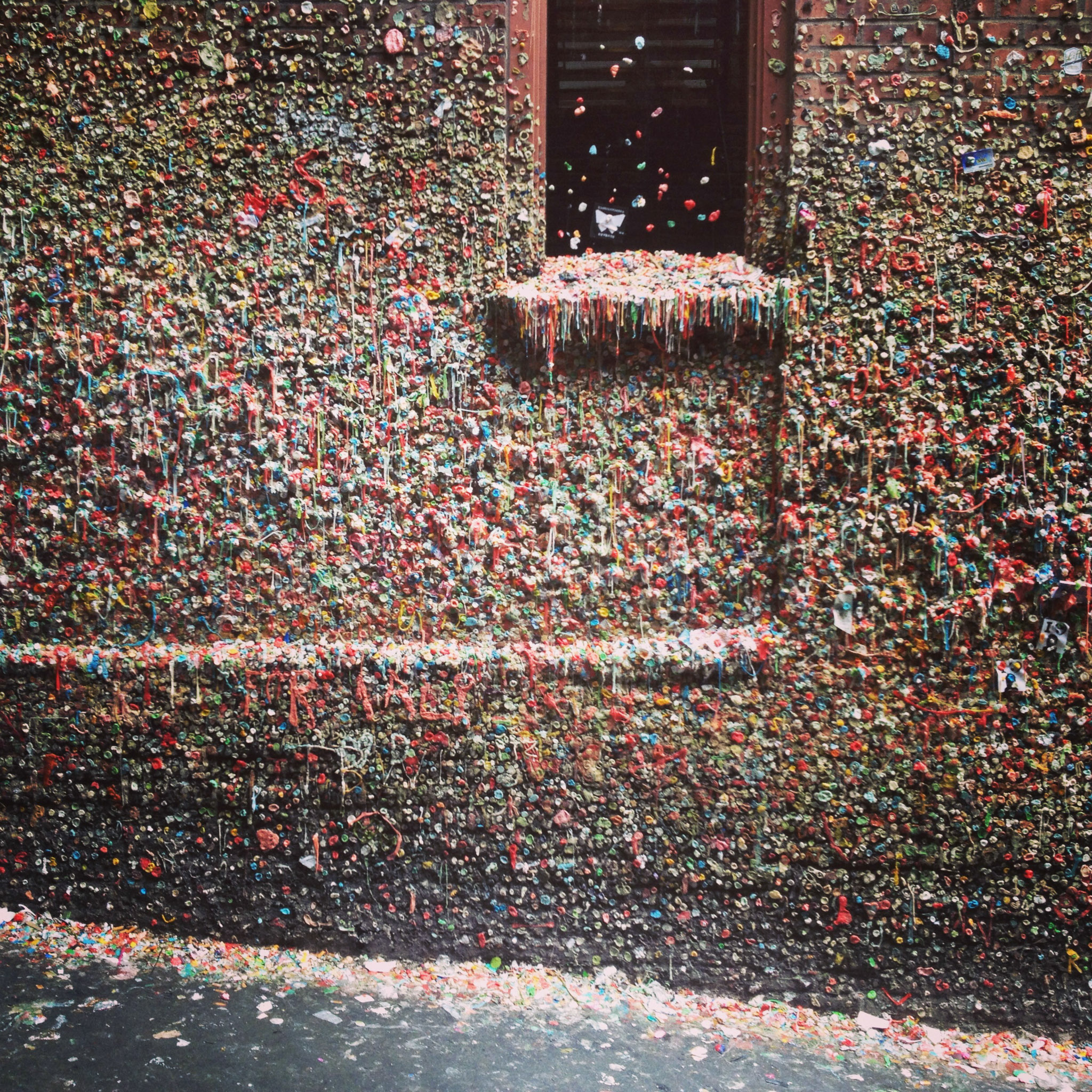 The Market Theatre Gum Wall. Yummo!
