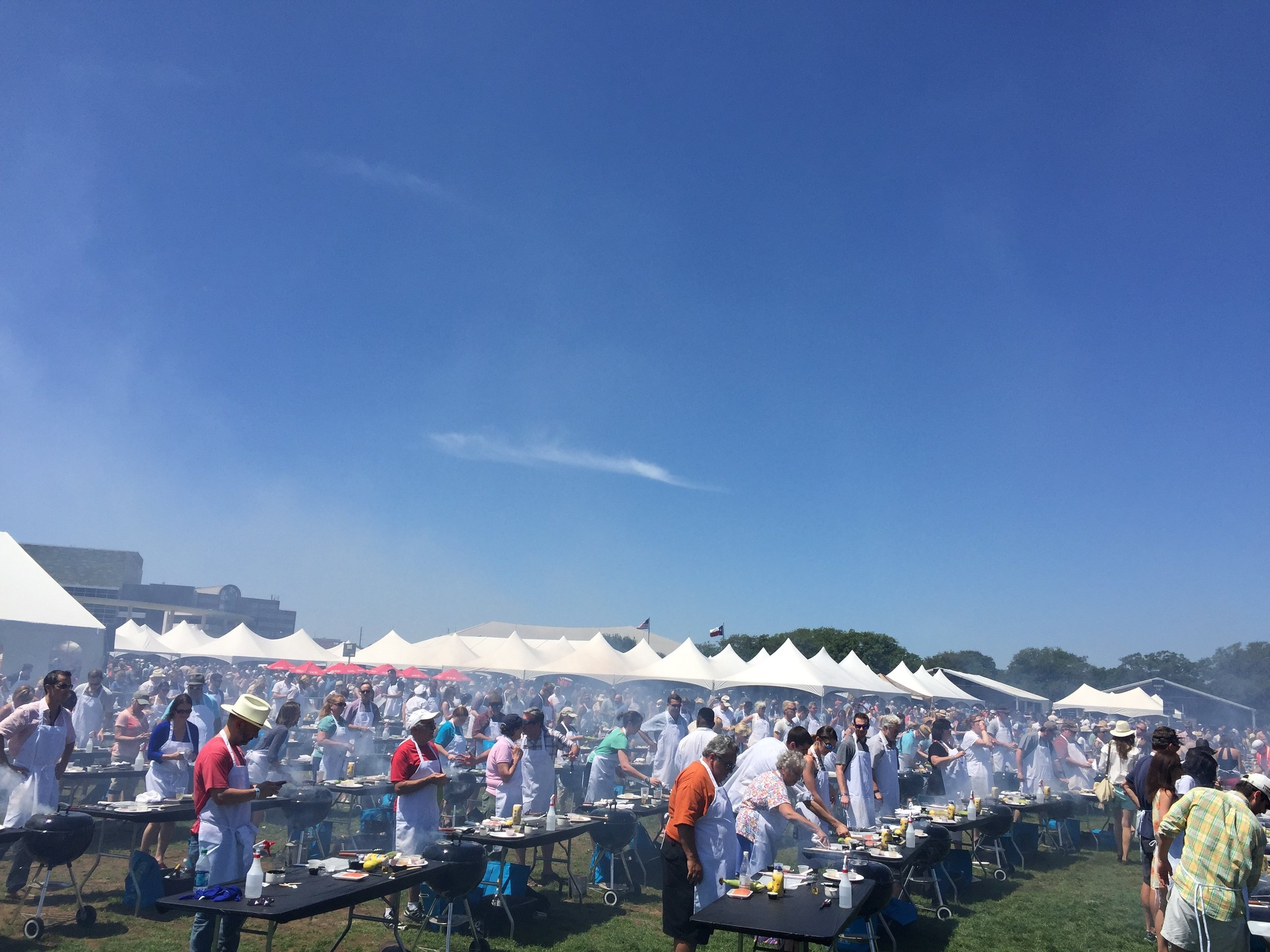 Austin Food + Wine Festival 2014 & 2015    (chef talent & culinary operations management)   Alongside 3 cooking demo stages, 4 fire pit sampling tents, a grand taste and wine classes, 400 guests participated in a celebrity-chef led grilling class each day of the festival.
