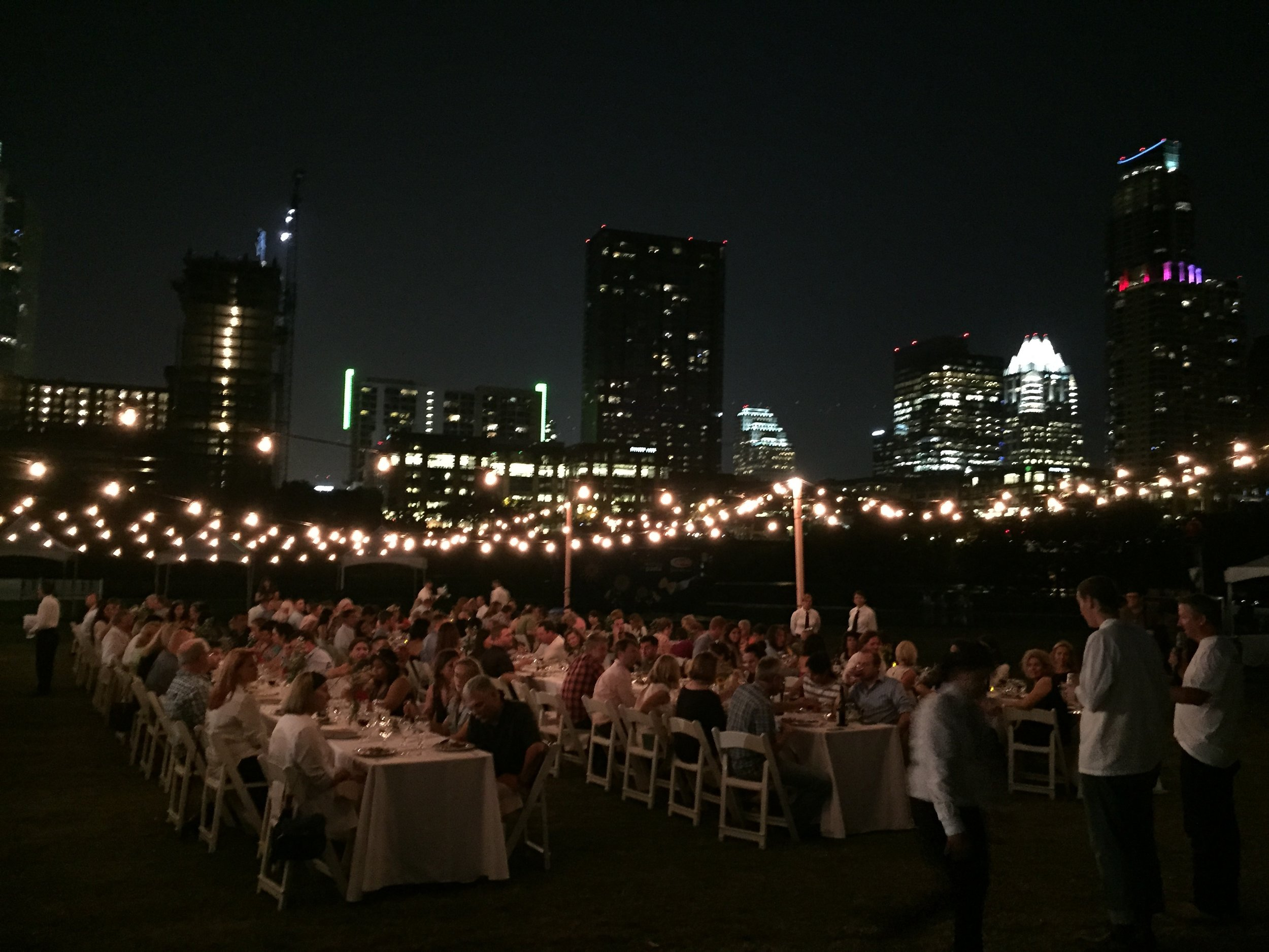 Feast Under the Stars 2014 & 2015    (chef talent & culinary operations management)   Five inspiring chefs collaborated on a multiple-course wine pairing feast with the iconic Austin city skyline behind them.