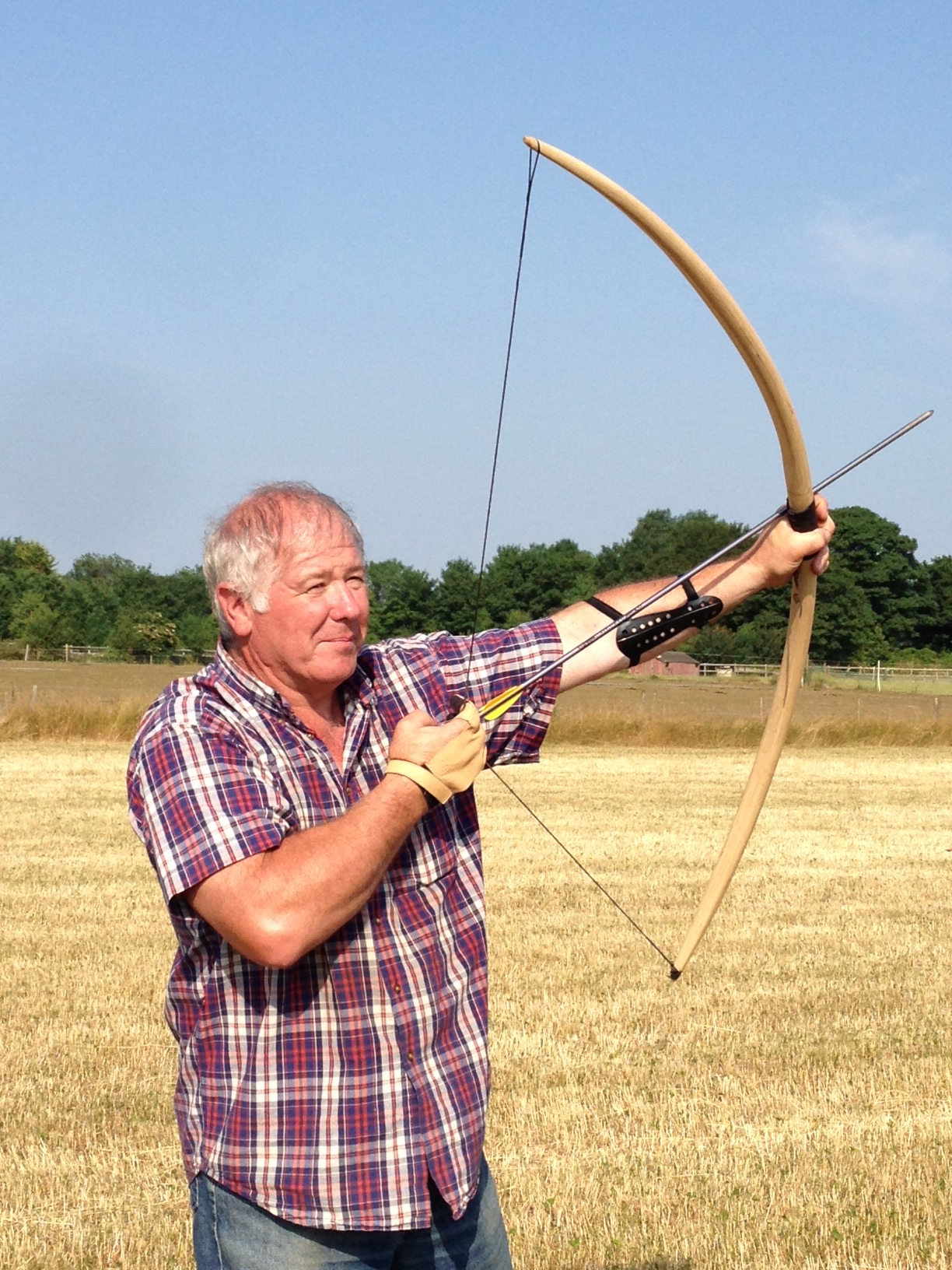 Dad trying out his archery skills