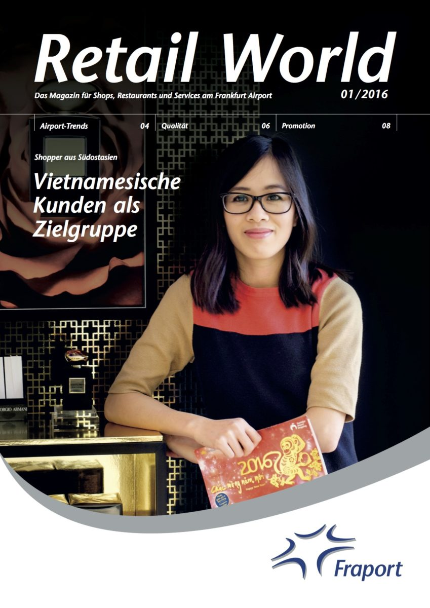 """Cover """"Fraport Retail World"""", Issue I/2016"""