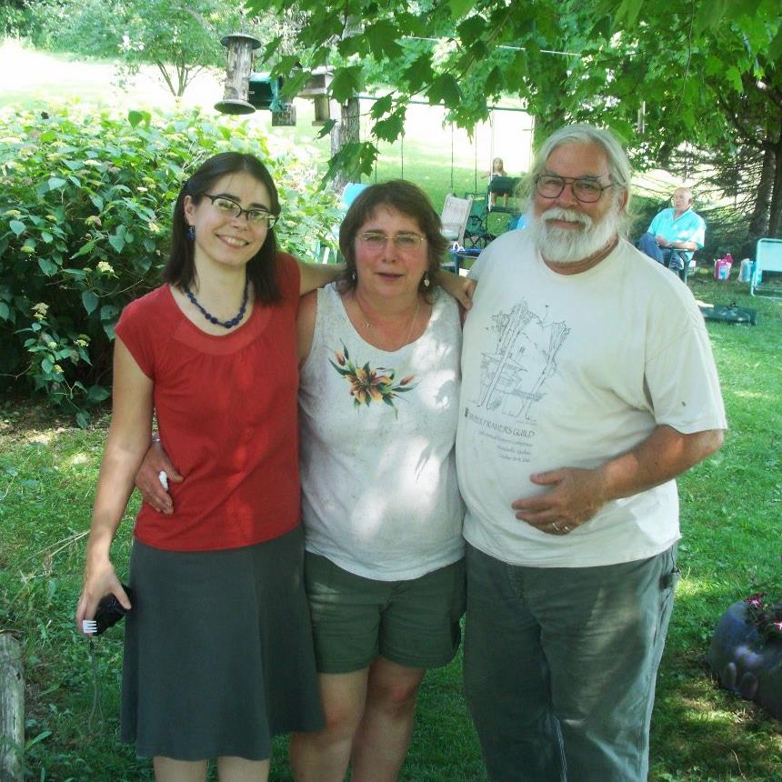 Becca, Kay, and Nick celebrate Kay's 60th birthday in 2011