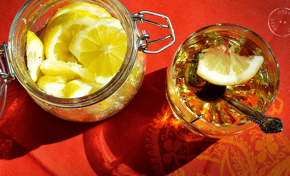 Refreshing tea with lemon syrup.