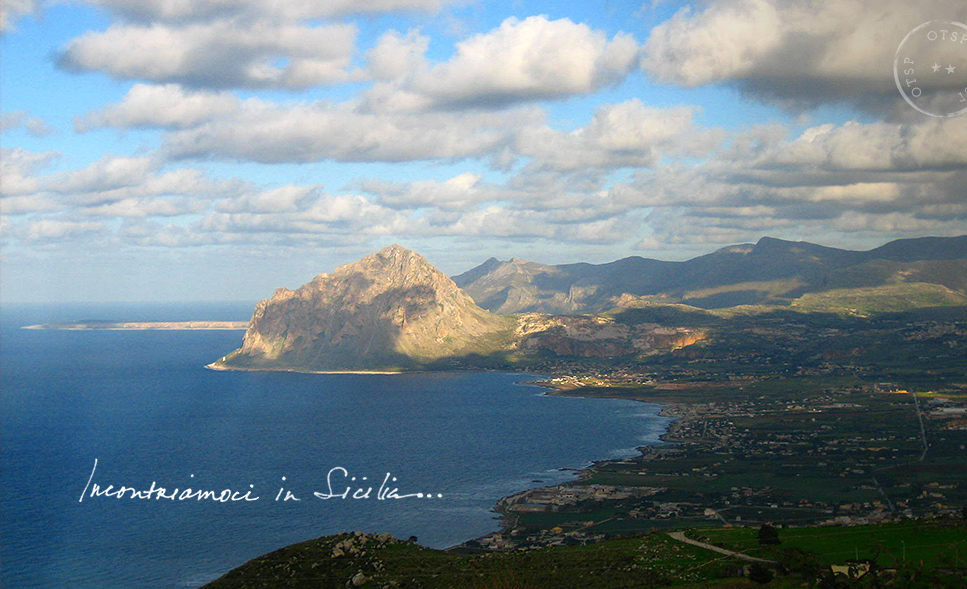 View from the top of Erice, Sicily