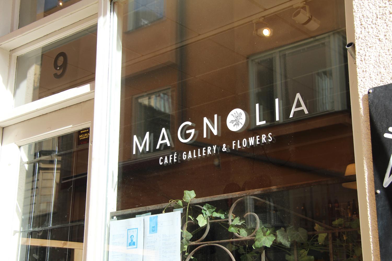 Magnolia cafe in Stockholm
