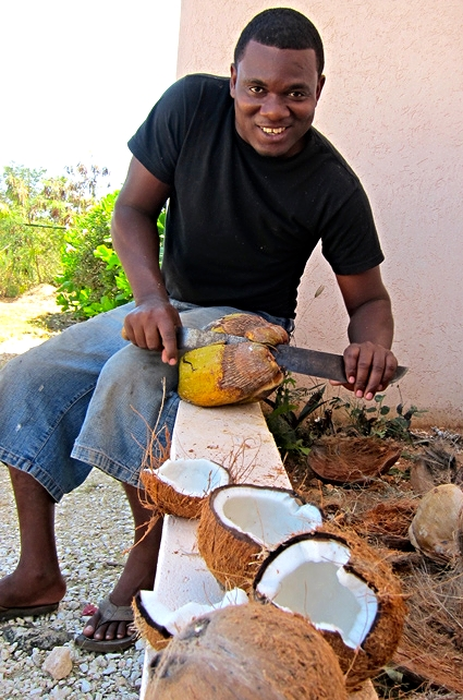 anguilla locals make coconut oil