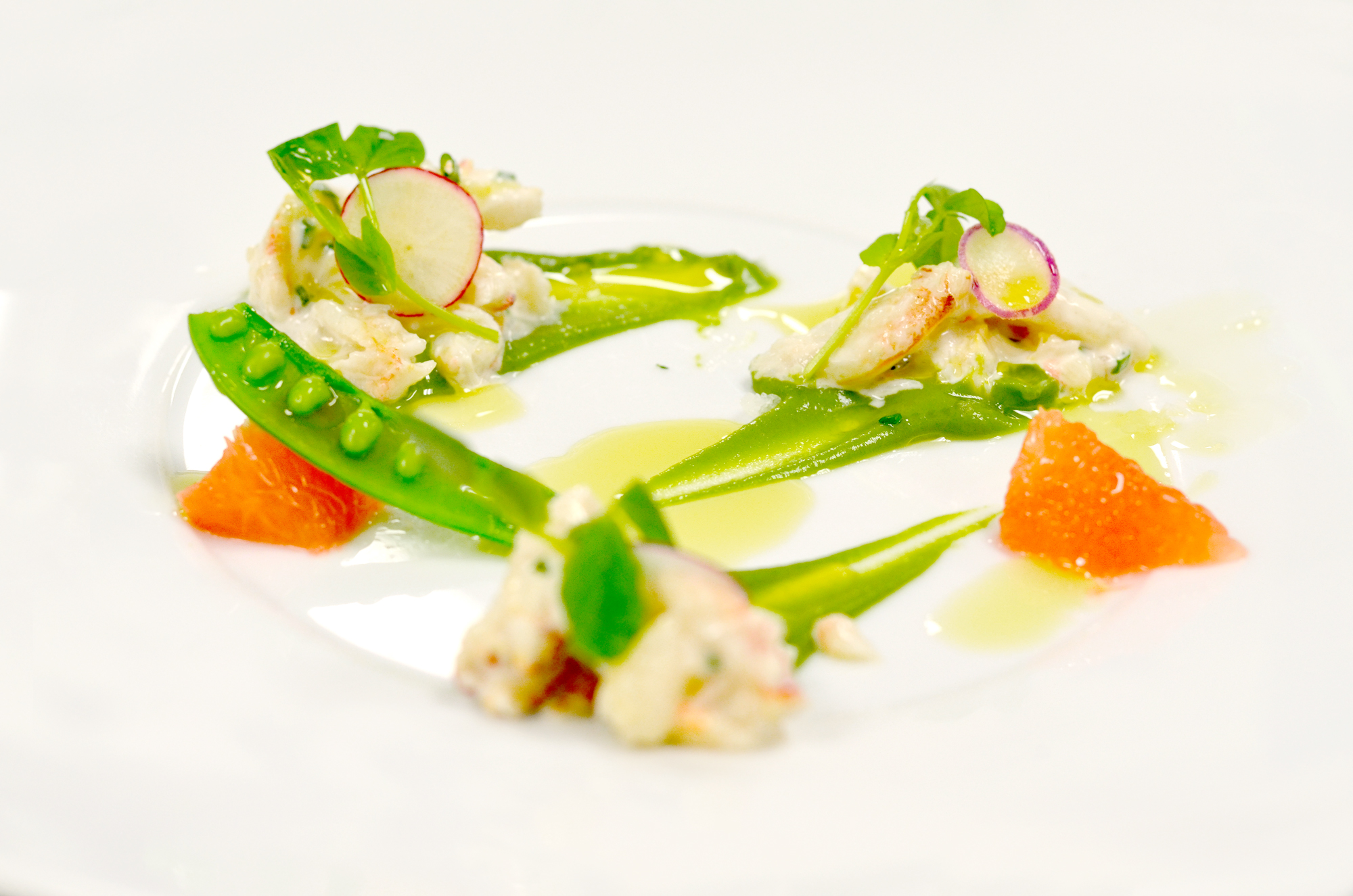 Be Healthful Retreat & Four Seasons Chicago - Natural Recipes for exotic Peeky Toe Crab Salad